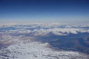Snow covered mountains from sky - 3 Best