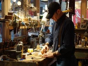 Artison making coasters-1