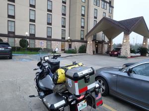 Bike in front of hotel in Lafayette-1