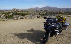 Bike outside of Santa Fe in desert-1