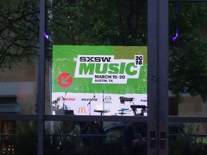 SXSW Music Band setup in window-1