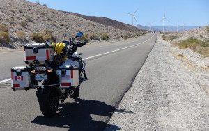 bike in CA on road with windmills best-1