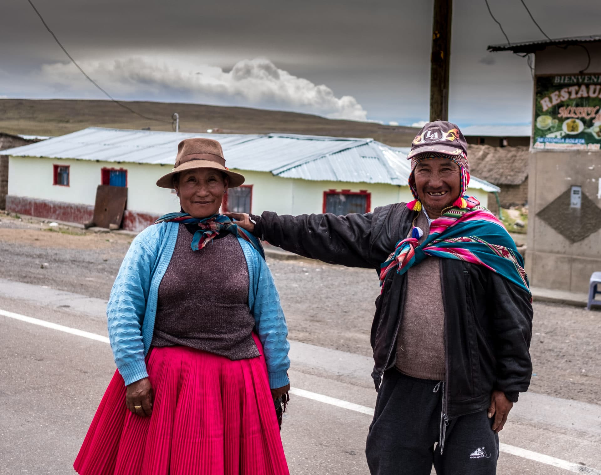 Man and Lady high in Peru