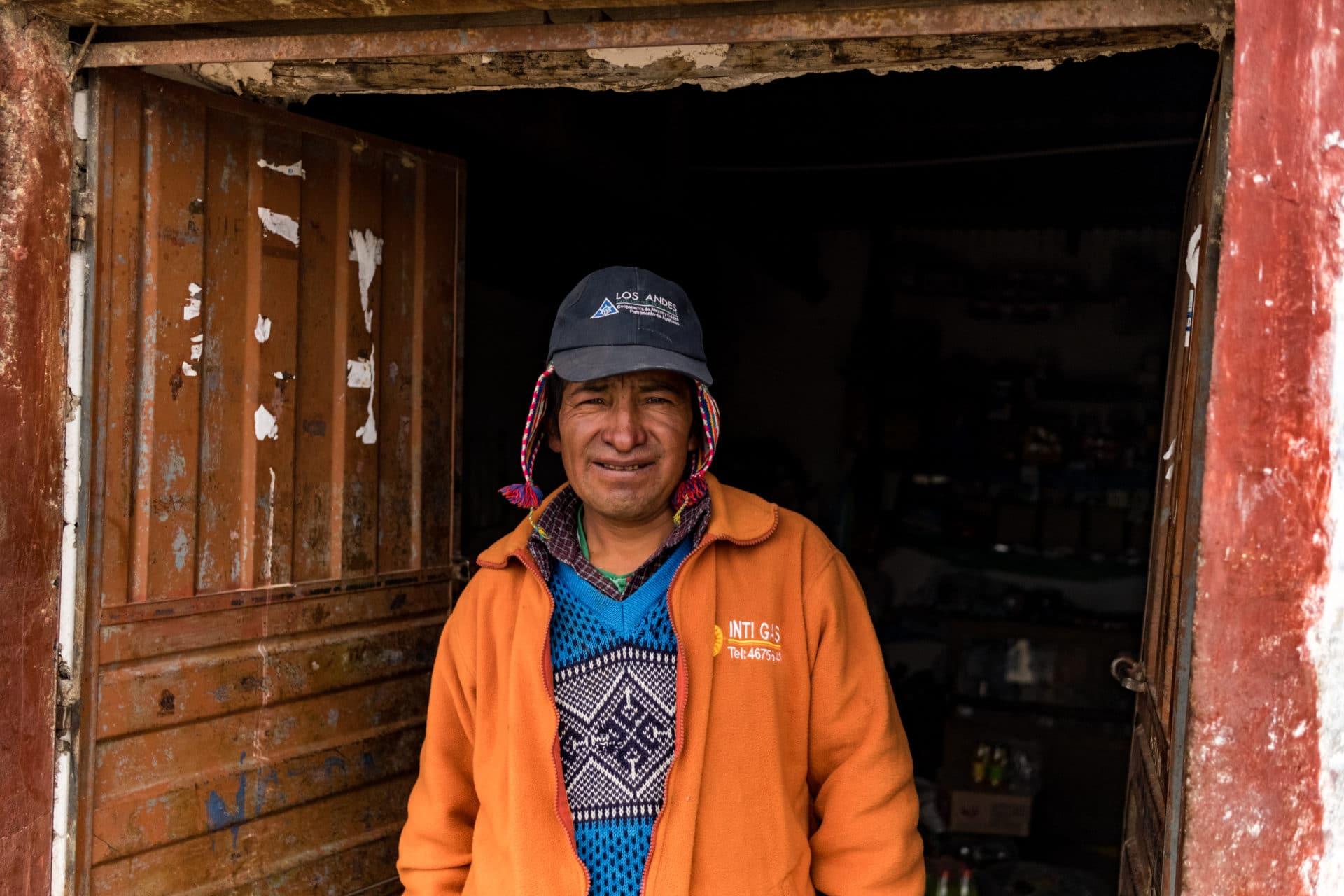 Restaurant Owner High up in Peru