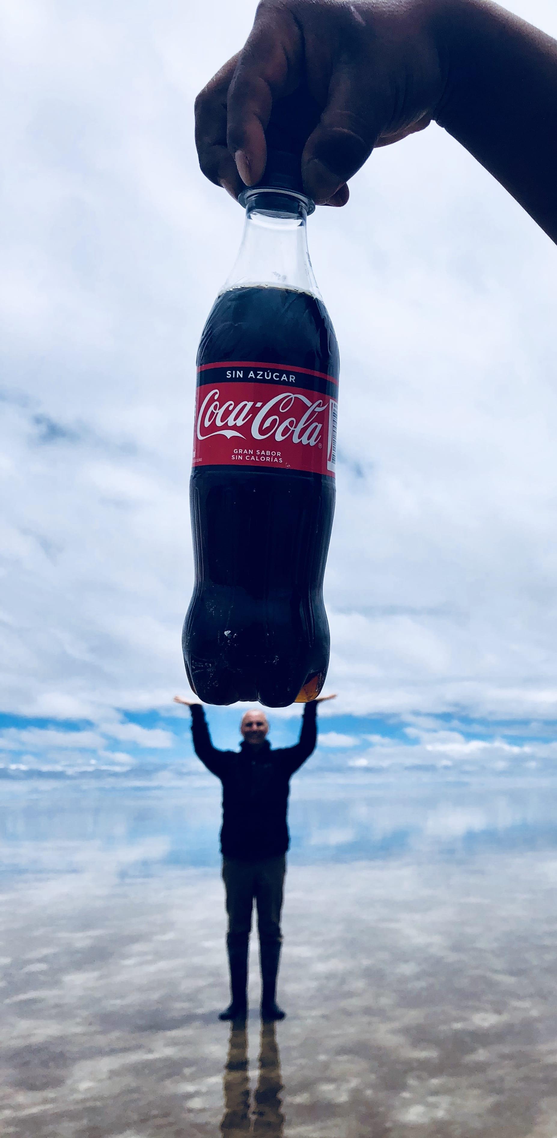 Phil holding Coke Bottle - Best
