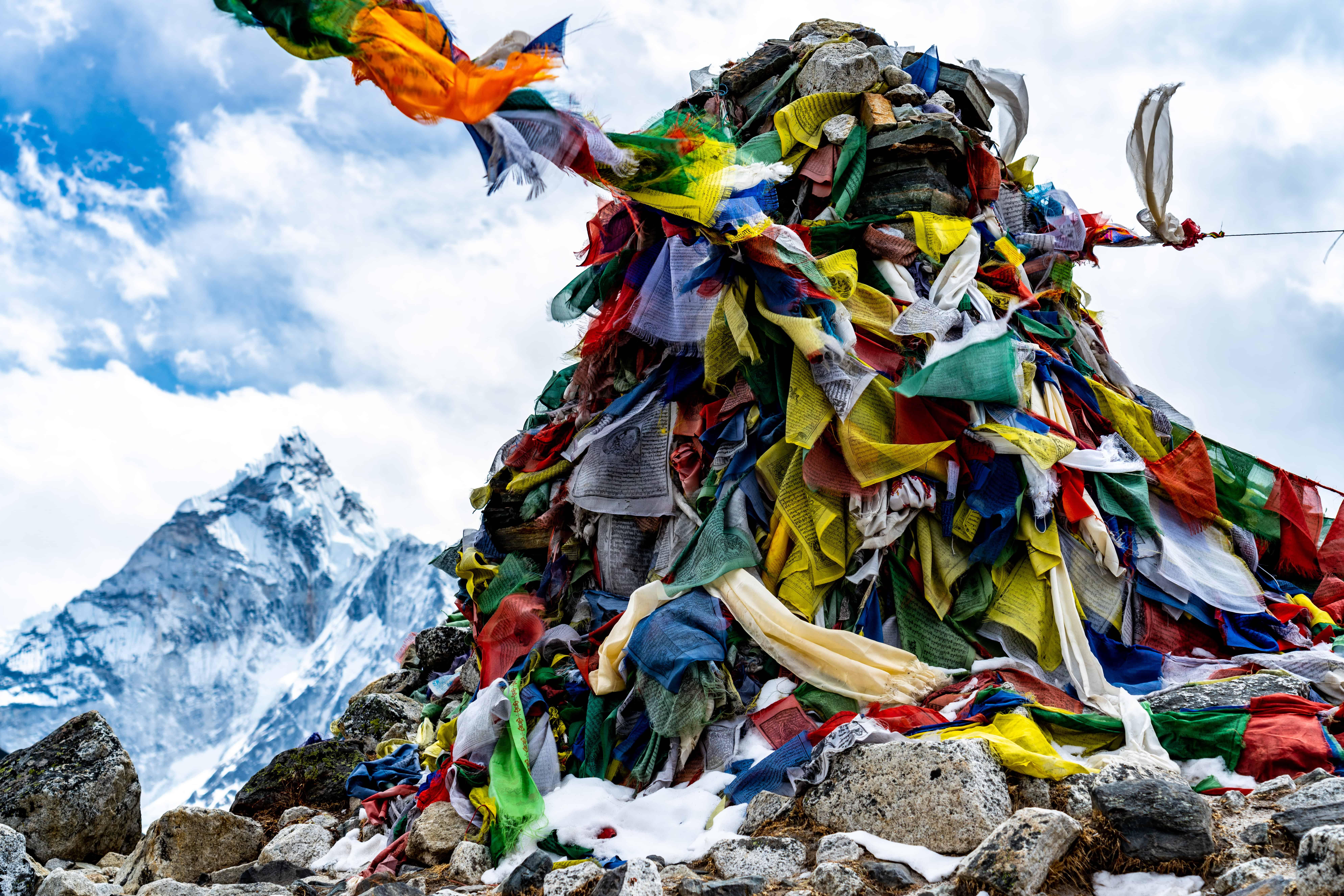 Flag Memorial with Mountain Lubache