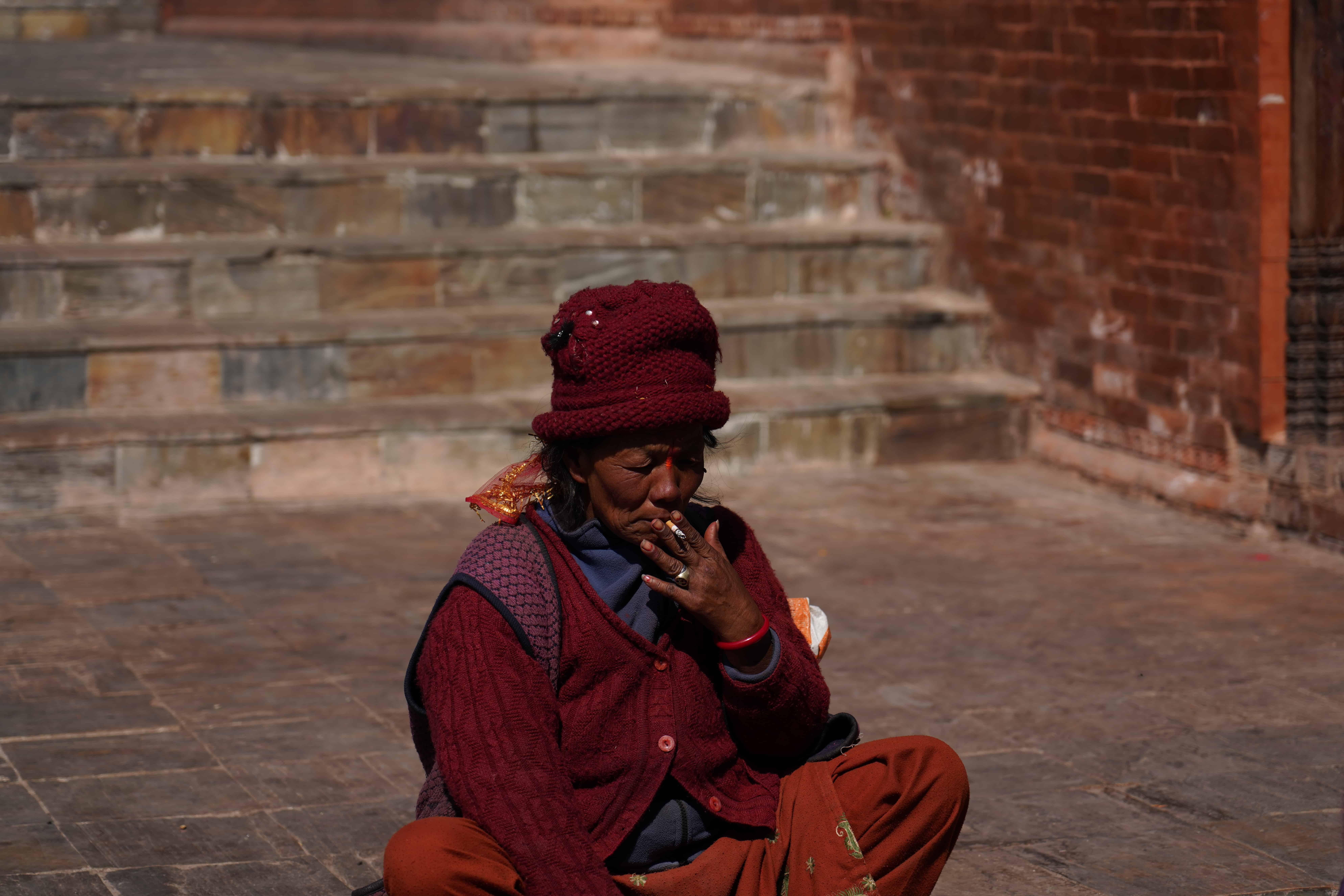 Nepal Woman Smoking