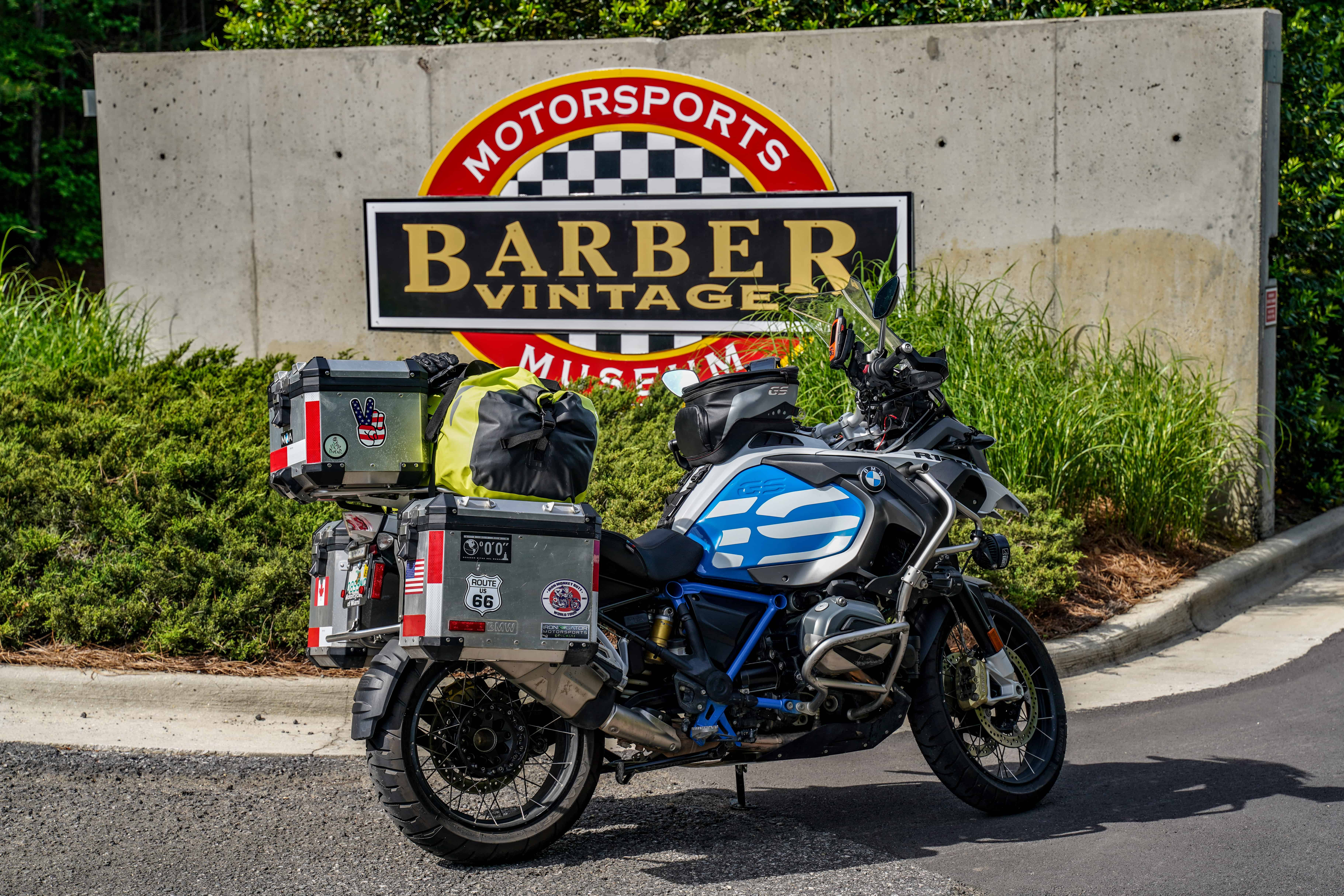 Barber Motor Museum Sign with R1200GS